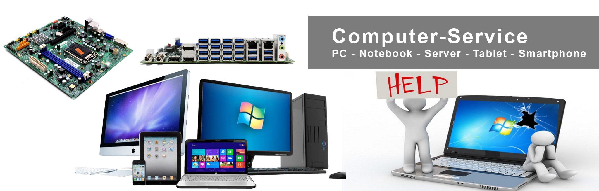 Service für PC, Laptop, Notebook, Server, Tablet und Apple Produkte.